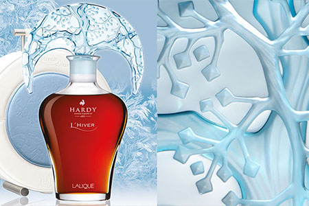 Hardy Cognac has unveiled its final creation in the Four Seasons collection: L'Hiver carafe, designed by Lalique