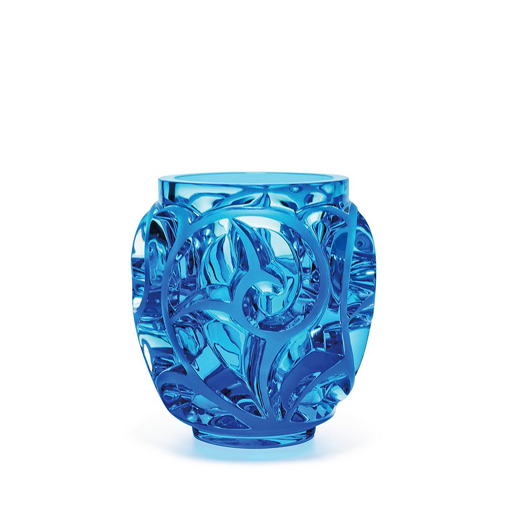 Tourbillons vase | Limited edition (999 pieces), light blue crystal | Vase Lalique