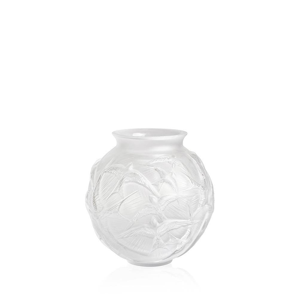 Hirondelles medium vase   Clear crystal   Vase Lalique