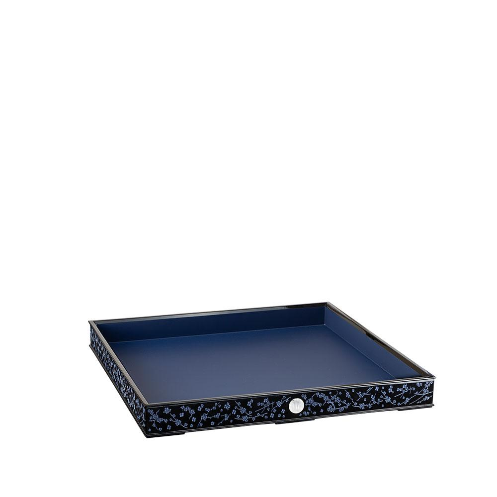 FLEURS DE CERISIER LACQUERED WOOD TRAY LARGE SIZE